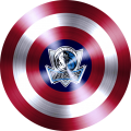 captain american shield with dallas mavericks logo iron on transfer