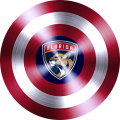 captain american shield with florida panthers logo decal sticker
