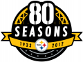 Pittsburgh Steelers 2012 Anniversary Logo decal sticker