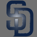 san diego padres 2015-pres primary plastic effect logo iron on transfer