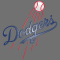 los angeles dodgers 2012-pres primary plastic effect logo iron on transfer
