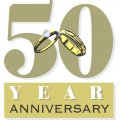The 50th Anniversary DIY iron on stickers (heat transfer)