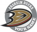 Custom Anaheim Ducks logo iron on transfer