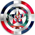 CAPTAIN AMERICA DOMINICAN REPUBLIC Flag decal sticker