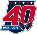 Washington Capitals 2014 15 Anniversary Logo iron on transfer