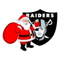 Oakland Raiders Santa Claus Logo iron on transfer