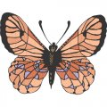 Butterfly DIY iron on stickers (heat transfer) version 9