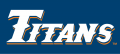 Cal State Fullerton Titans 1992-2009 Wordmark Logo decal sticker