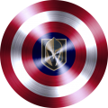 captain american shield with toronto maple leafs logo decal sticker