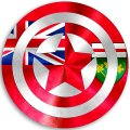 CAPTAIN AMERICA Ontario Flag iron on transfer