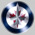 Winnipeg Jets Stainless steel logo decal sticker