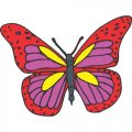 Butterfly DIY iron on stickers (heat transfer) version 23