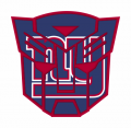 Autobots New York Giants logo decal sticker
