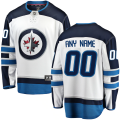 Winnipeg Jets Custom Letter and Number Kits for White Away Jersey
