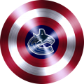 captain american shield with vancouver canucks logo decal sticker