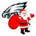 Philadelphia Eagles Santa Claus Logo iron on transfer