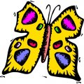 Butterfly DIY iron on stickers (heat transfer) version 26