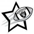 Oakland Raiders Football Goal Star iron on transfer