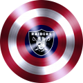 captain american shield with oakland raiders logo iron on transfer