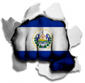 hulk EL SALVADOR Flag decal sticker