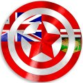 CAPTAIN AMERICA Manitoba Flag iron on transfer
