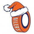 Edmonton Oilers Hockey ball Christmas hat decal sticker