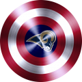captain american shield with los angeles rams logo iron on transfer