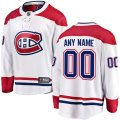 Montreal Canadiens Custom Letter and Number Kits for White Away Jersey