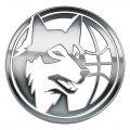 Minnesota Timberwolves silver logo decal sticker