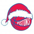 Detroit Pistons Basketball Christmas hat decal sticker