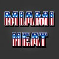 Miami Heat American Captain Logo iron on transfer