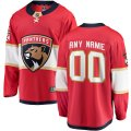 Florida Panthers Custom Letter and Number Kits for Red home Jersey