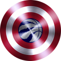 captain american shield with toronto raptors logo iron on transfer