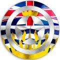 CAPTAIN AMERICA British Columbia Flag iron on transfer