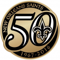 New Orleans Saints 2016 Anniversary Logo iron on transfer