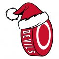 New Jersey Devils Hockey ball Christmas hat decal sticker
