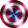 captain american shield with indianapolis colts logo iron on transfer