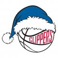 Los Angeles Clippers Basketball Christmas hat decal sticker