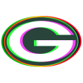 Phantom Green Bay Packers logo iron on transfer