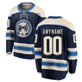 Columbus Blue Jackets Custom Letter and Number Kits for Blue Alternate Jersey