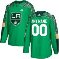 Los Angeles Kings Custom Letter and Number Kits for Green Jersey