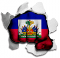 hulk HAITI Flag decal sticker