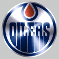 Edmonton Oilers Stainless steel logo decal sticker