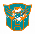 Autobots Miami Dolphins logo decal sticker