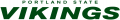 Portland State Vikings 1999-2015 Wordmark Logo decal sticker