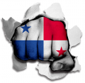 hulk PANAMA Flag decal sticker