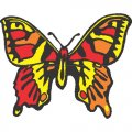 Butterfly DIY iron on stickers (heat transfer) version 21