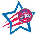 Detroit Pistons Basketball Goal Star decal sticker