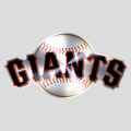 San Francisco Giants Stainless steel logo decal sticker