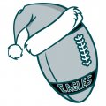 Philadelphia Eagles Football Christmas hat iron on transfer